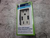 LEVITON DUPLEX USB CHARGER/ TAMPER RESISTANT OUTLET
